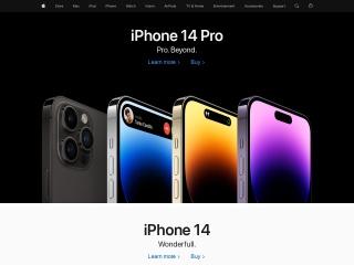 Captura de pantalla para apple.com