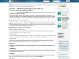 Inbound Link Building Strategies That Help You