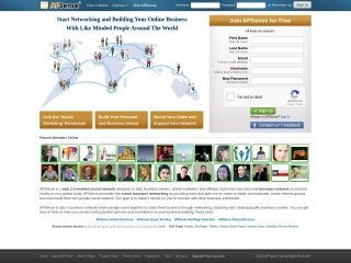 Screenshot do site apsense.com
