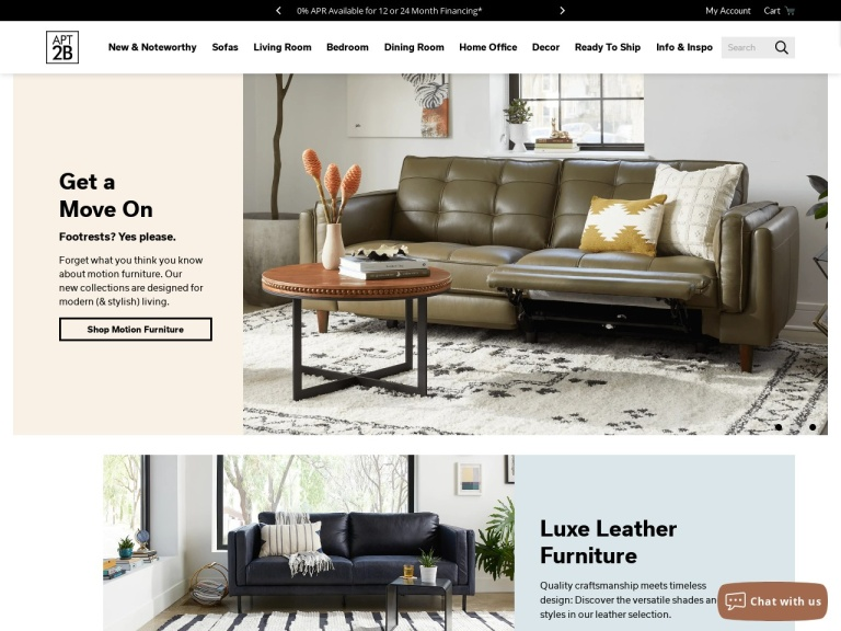 Apt2b Furniture And Home Decor screenshot