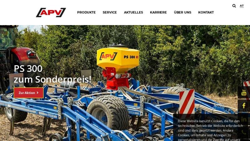 www.apv.at Vorschau, APV Technische Produkte GmbH