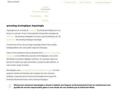 Pressing écologique - Aqualogia