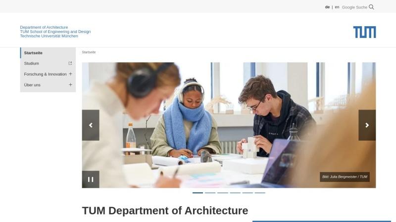 www.ar.tum.de Vorschau, Fakultät für Architektur an der TU München