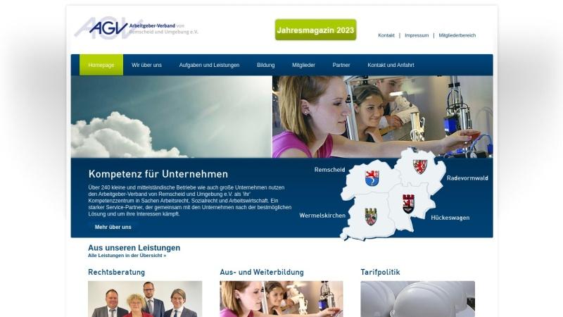 www.arbeitgeber-rs.de Vorschau, Arbeitgeber-Verband von Remscheid und Umgebung e.V.