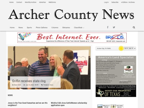 Archer City High School graduates scholarship recipients