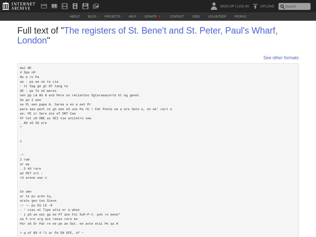 """Full text of """"The registers of St. Bene't and St. Peter, Paul ..."""