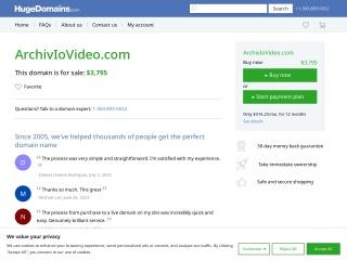 screenshot archiviovideo.com
