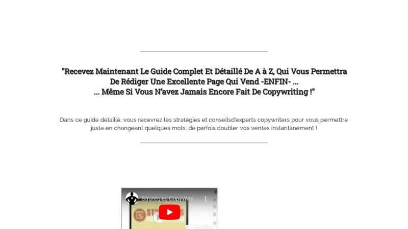 strategies copywriting - argumentaire de vente
