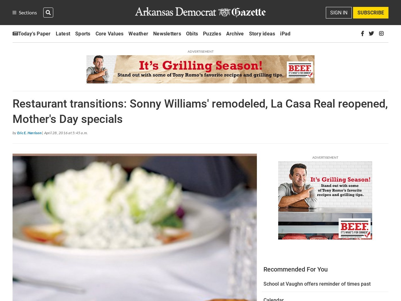 Restaurant transitions: Sonny's remodeled, La Casa Real reopened in NLR