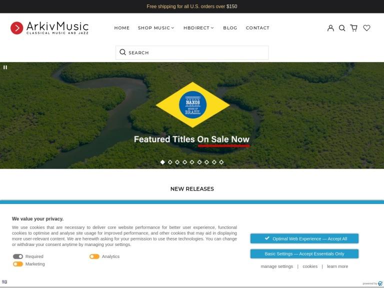 Arkivmusic Coupon Codes & Promo codes