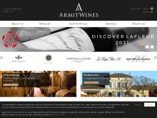 Screenshot for armitwines.co.uk