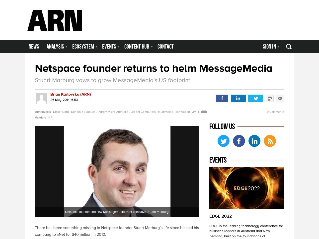 Netspace founder returns to helm MessageMedia