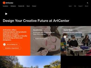 Screenshot for artcenter.edu