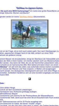 Vorschau der mobilen Webseite www.arthorn.de, Frank Affeldts Teichbau Projekt