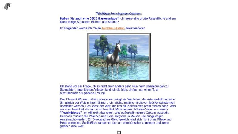 www.arthorn.de Vorschau, Frank Affeldts Teichbau Projekt