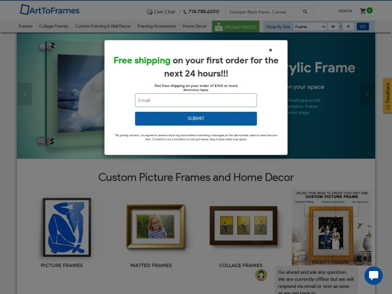 Art To Frames , Custom And Personalized Framing screenshot