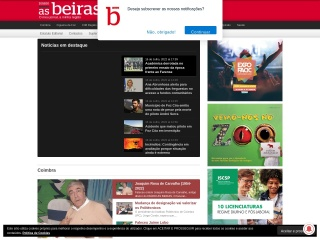 Screenshot do site asbeiras.pt