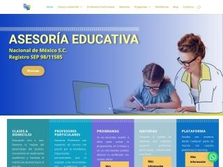Captura de pantalla para asesoriaeducativa.edu.mx