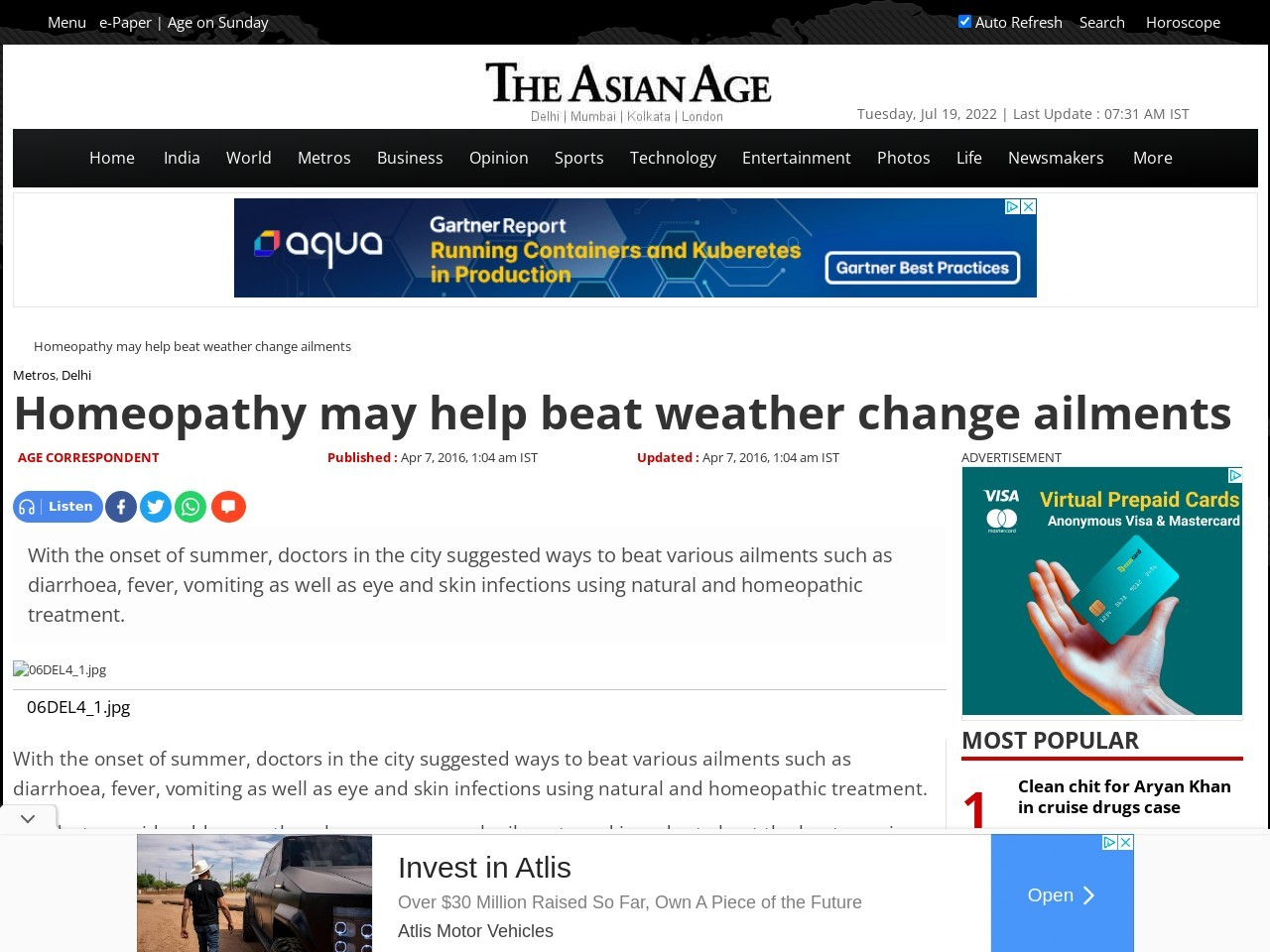 Homeopathy may help beat weather change ailments