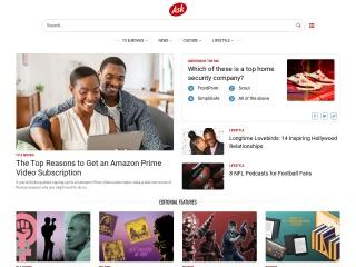 Capture d'écran pour askjeeves.com
