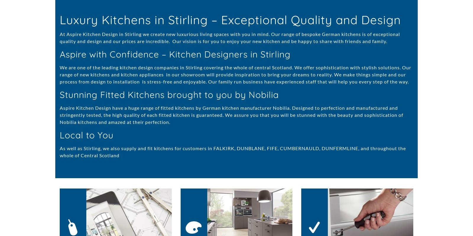 Preview of http://www.aspirekitchendesign.co.uk
