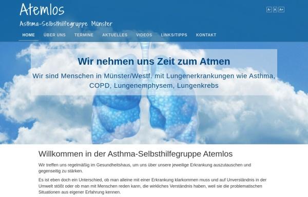 Vorschau von www.asthma-shg-atemlos.de, Asthma-Selbsthilfegruppe Atemlos
