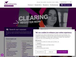 Screenshot for aston.ac.uk