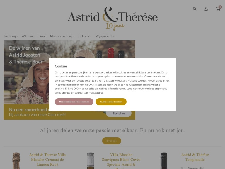 Astridentherese.nl screenshot