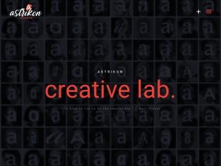 Screenshot για την ιστοσελίδα astrikon.gr