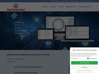 Screenshot der Website astrocontact.at