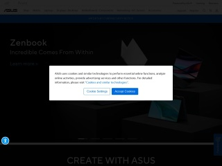 Screenshot for asus.com