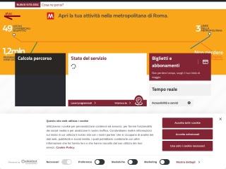 screenshot atac.roma.it