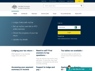Screenshot for ato.gov.au