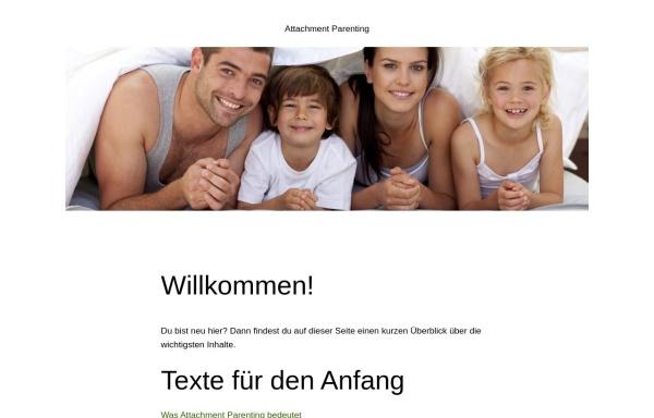 Vorschau von www.attachment-parenting.de, Attachment Parenting - die Seite für Anders-Erziehende