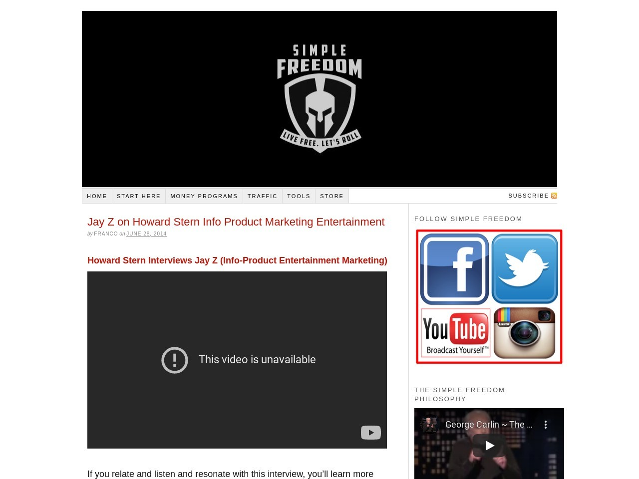 Jay Z on Howard Stern Info Product Marketing Entertainment