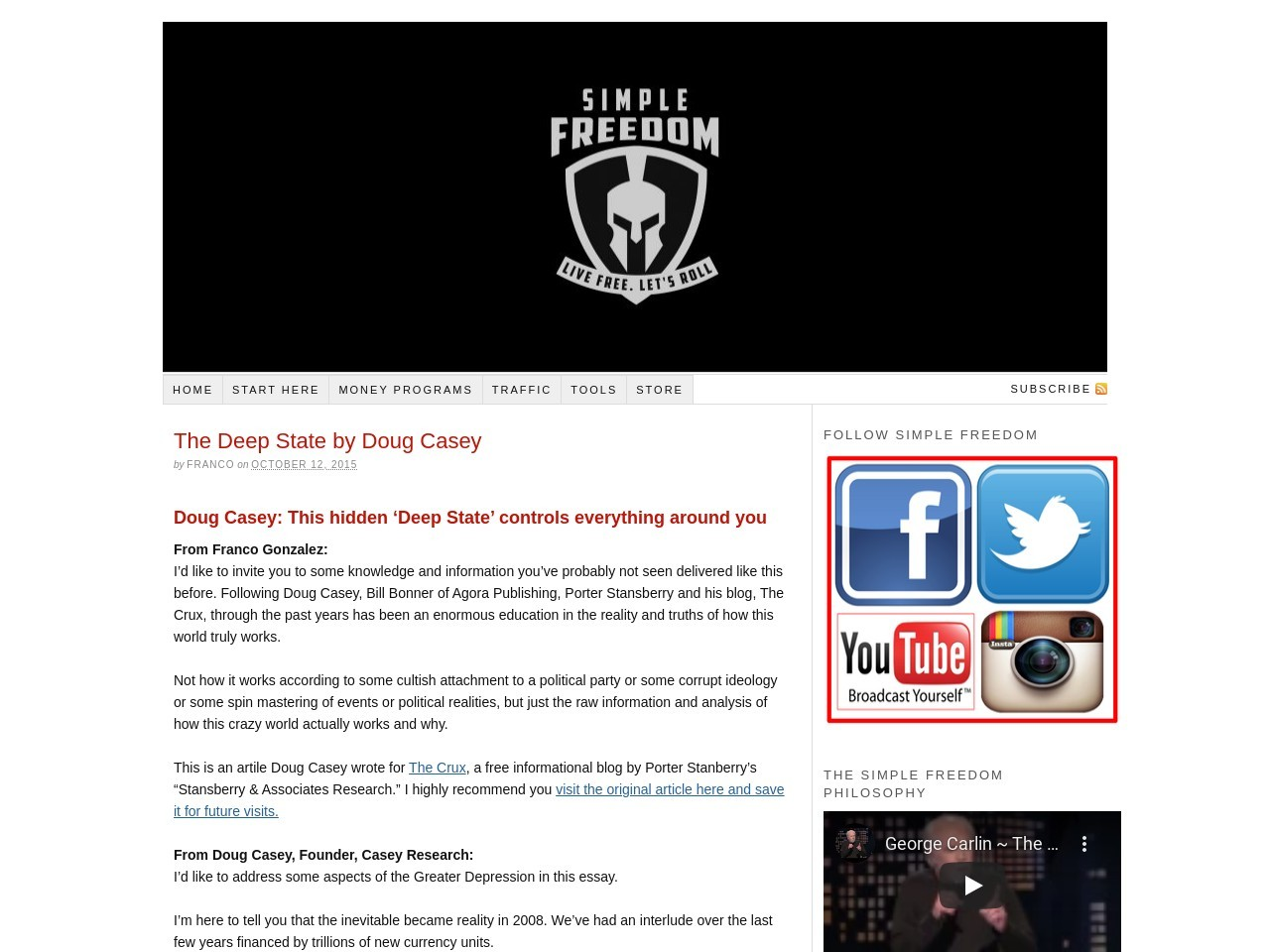 The Deep State by Doug Casey – Attraction Marketing & List …