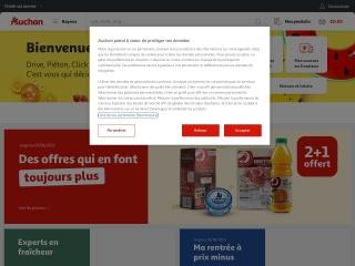 Capture d'écran pour auchan.fr