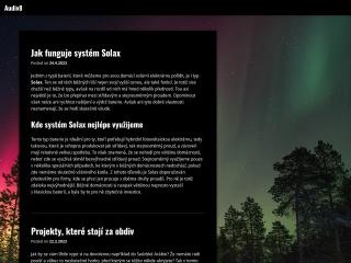 Snímek stránek pro audiv8.cz