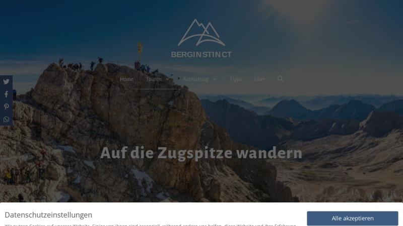 www.auf-die-zugspitze-wandern.info Vorschau, Alle Wege auf die Zugspitze