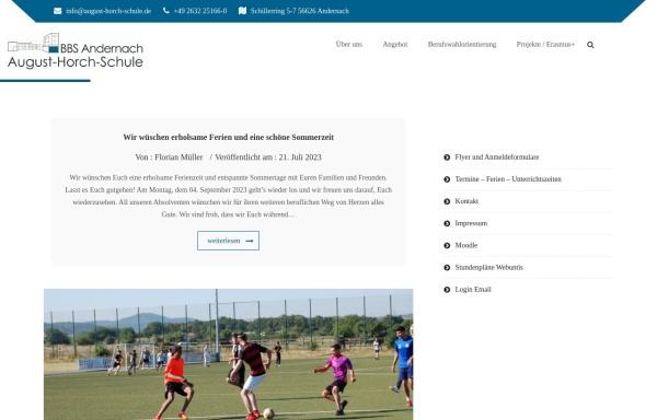 Vorschau von www.august-horch-schule.de, August-Horch-Schule BBS-Andernach