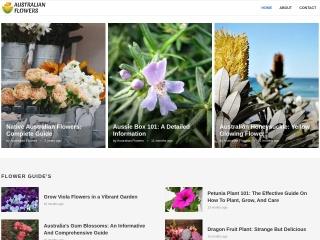 Screenshot for australianflowers.net
