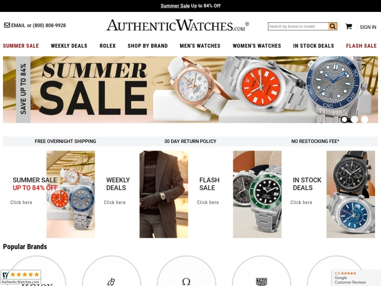 Authenticwatches screenshot