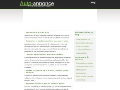 Auto-annonce.com 1er réseau Français d'annonces automobiles