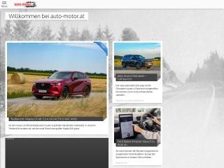 Screenshot der Website auto-motor.at