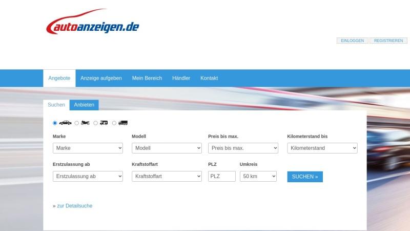 www.autoanzeigen.de Vorschau, Autoanzeigen.de GmbH & Co. KG