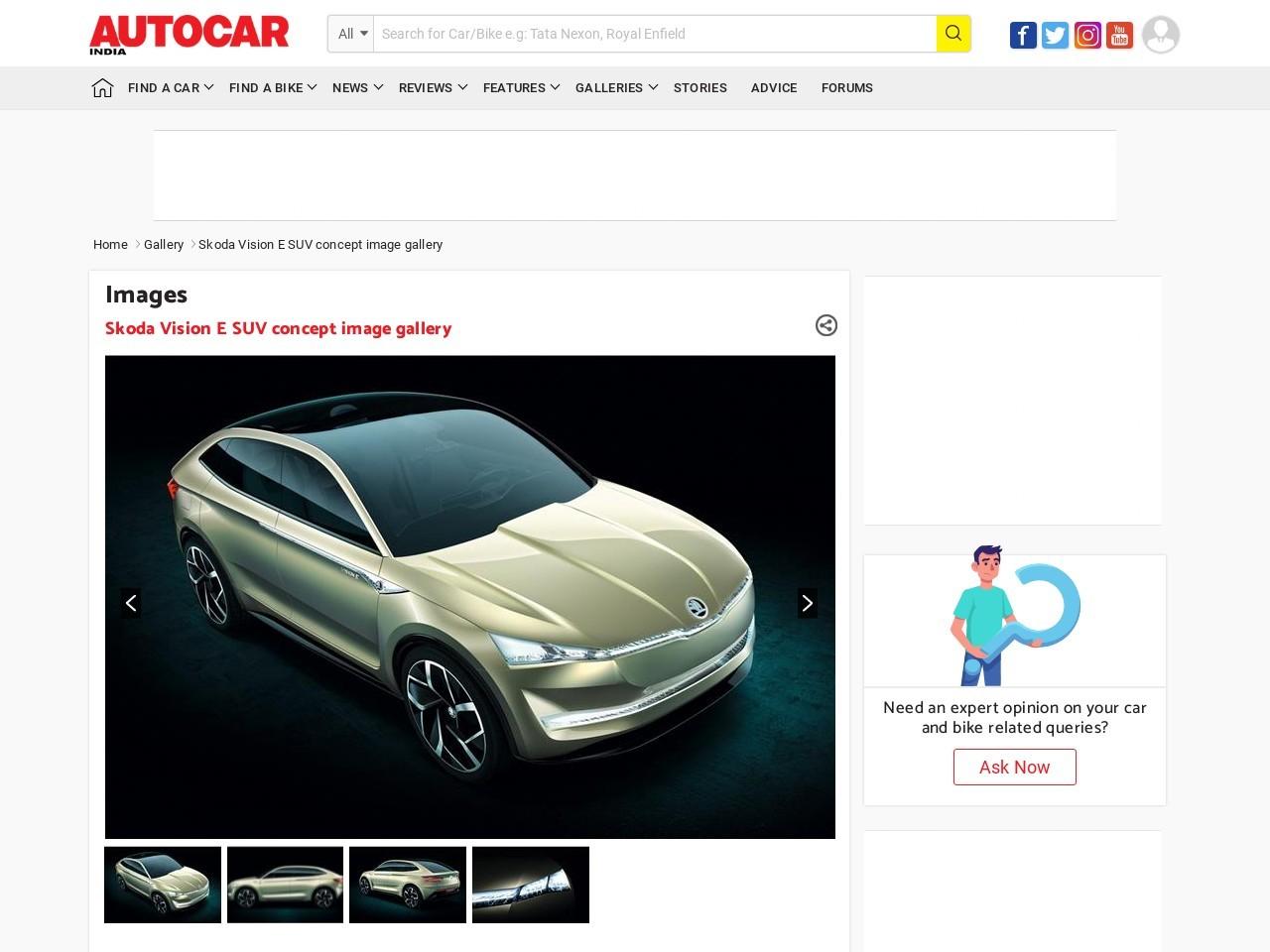 PhotoGallery: Skoda Vision E SUV concept image gallery