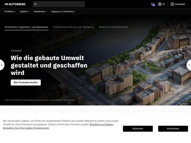 Autodesk Store Affiliate Program Europe screenshot