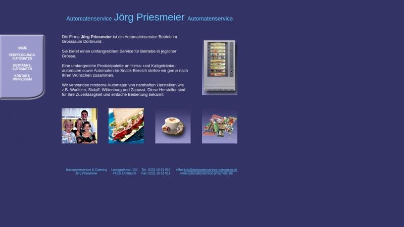 www.automatenservice-priesmeier.de Vorschau, Priesmeier Automatenservice