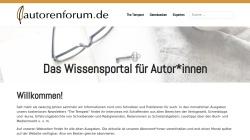 www.autorenforum.de Vorschau, Das Autorenforum: Infoquelle für AutorInnen