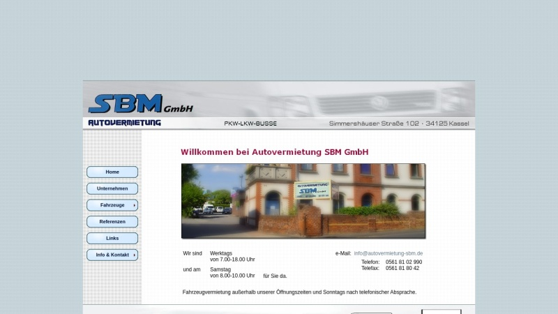 www.autovermietung-sbm.de Vorschau, Autovermietung SBM GmbH Kassel
